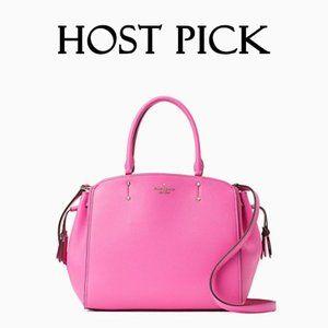 Kate Spade pink leather medium satchel handbag